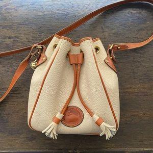 Vintage Dooney & Bourke Cream Bucket Crossbody Bag